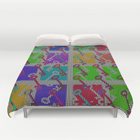 Colorful Key pattern Duvet Cover by LoRo  Art & Pictures