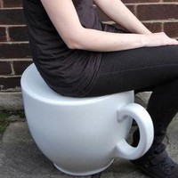 Tea cup stool, Holly Palmer - Sleek Identity