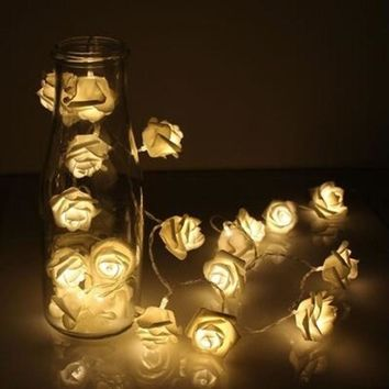 1.2m/1.5m 10 LED String Rose Flower Fairy Lights for Wedding Christmas Decoration Pursuing Excellence