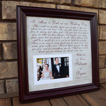 Thank You Wedding Parents Gifts, Parents Gift, Grooms Parents, Bride Parents, Wedding Thank You Gift, Mother of the Bride, Mother of Groom