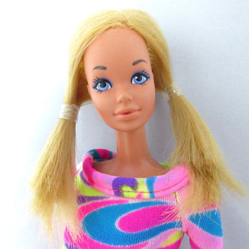Malibu PJ Mod Doll Vintage Barbie Mattel 1970s - Totally Hair Barbie Dress