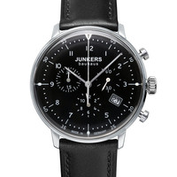 Junkers Bauhaus 6086-2 Chronograph Watch Black