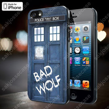 Tardis Dr Who Bad Wolf Case for iPhone 5/5S, 4/4S, and Samsung Galaxy S3/S4