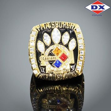 Drop shipping Fans 2005 Pittsburgh Steelers championship rings for men  Support for custom