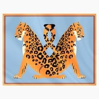 Jaguar Panneaux Sarong - Jaguar And Blue