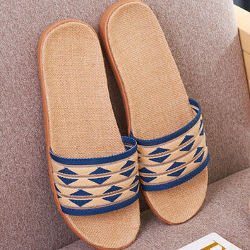 Handmade Linen Slipper Sandals