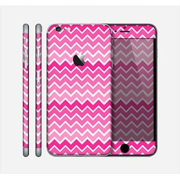 The Pink & White Ombre Chevron V2 Pattern Skin for the Apple iPhone 6 Plus