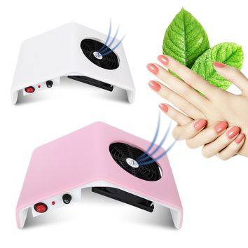 Gustala Nail Art Salon Nail Suction Manicure Dust Collector Filing Acrylic UV Gel Tip Machine Vacuum Cleaner Salon Tool