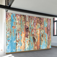 Rusted Metal Wall Mural