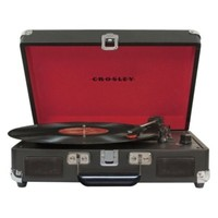 Crosley CR8005A Cruiser 3 Speed Portable Turntable Record Player Black