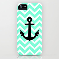 Tiffany Chevron Anchor iPhone Case by RexLambo | Society6