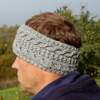 Men's Headband, Knitted Head band, Hand knit head band, For Women, For Man, Unisex,  Knitted Ear Warmer, Hand knit Earwarmer