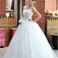 Popular 2015 the latest Princess Wedding wedding wedding dress lace straps = 1933112580