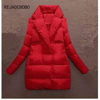 Winter Women Jacket red coat woman parkas black down jackets and coats female outerwear lady clothing