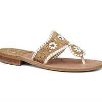 Napa Valley Sandal Natural Cork / White - Jack Rogers USA