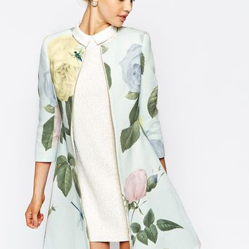 Ted Baker Coat in Distinguishing Rose Print