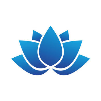 Beautiful Turquoise Lotus Flower Logo Design Vector for Your Future Business