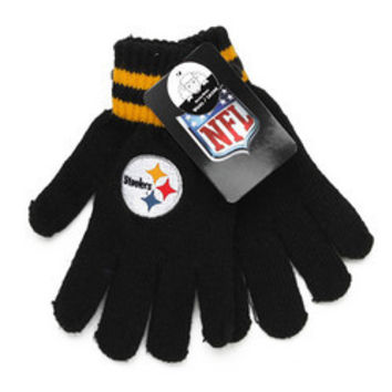 NFL Pittsburgh Steelers Men's Thermal Gloves [One Size w/wool]