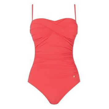 Tina Ruched One Piece Swimsuit Carnelian L.K.Bennett