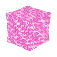 Tropical fishes outdoor pouf