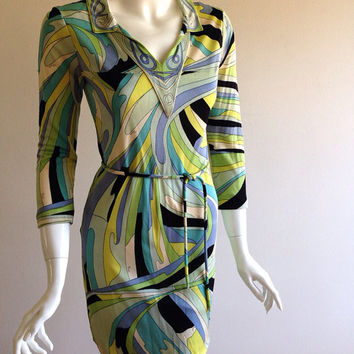 AS IS Emilio Pucci 1960s Belted Tunic Dress