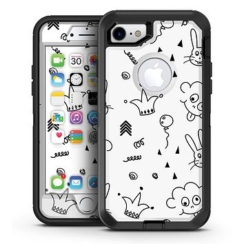Joker, Clouds, and Balloon Doodle - iPhone 7 or 7 Plus OtterBox Defender Case Skin Decal Kit