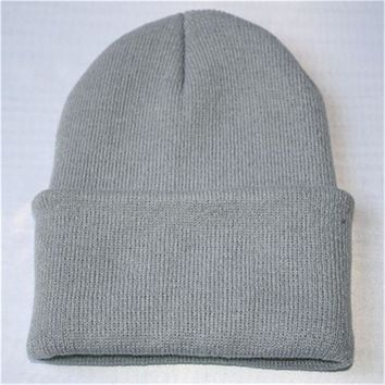 2017 New Fashion Unisex Skullies Beanies Winter Hat Warm Hat Knitting Warm Cap Knitted Wool  Soft Simple caps Aug26