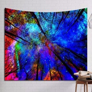 Tie Dye Forest Tapestry