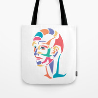 Abstract head Tote Bag by g-man