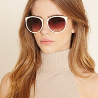 Etched Square Sunglasses