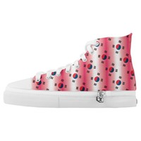 Korean flag Taegeukgi pattern in pink background Printed Shoes