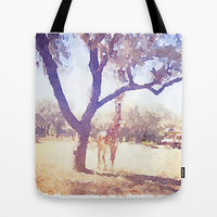 Giraffe Painting 2 Tote Bag by Elyse Notarianni
