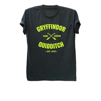 Gryffindor quidditch shirt harry potter t shirt unisex tshirt short sleeve tee size S M L