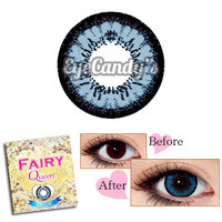 FAIRY Queen Blue (Monthly) Circle Lenses Colored Contacts Cosmetic Color Circle Lens