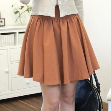 YESSTYLE: NamuDDalgi- Elastic Waist A-Line Skirt (Brown - One Size) - Free International Shipping on orders over $150