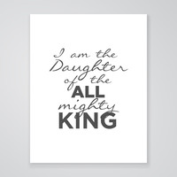 All Mighty King - Art Print