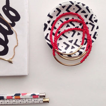 Red Gold Tube Bracelet