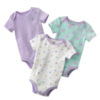 First Moments 3-pk. Bunny & Polka-Dot Bodysuits - Baby