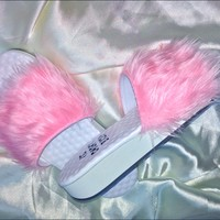 SWEET LORD O'MIGHTY! FURBAE SLIDES IN PINK