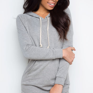 Rogue Sweatshirt Dress - Heather Gray