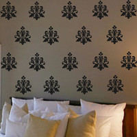 French Damask Pack Vinyl Wall Decals Decor Sticky Art Free shipping
