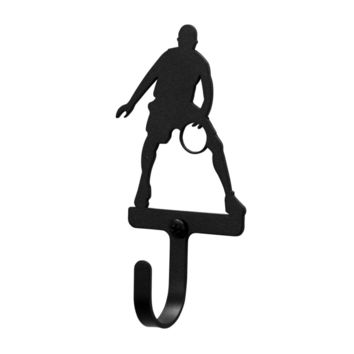Wrought Iron Basketball Player Decorative Wall Hook Small