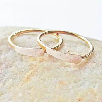 Sleeper Hoop Earrings 14K Gold Filled 18 Gauge by KarynHaydenDesigns