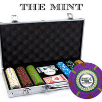 300Ct Claysmith Gaming 'The Mint' Chip Set In Aluminum