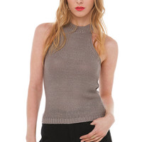 Do It Again Grey Sweater Tank Top