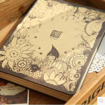 The Secret of the heart A5 Creative Stationery Beautiful Illustration Color Notebooks And Journals Notepad Creative Travel Diary