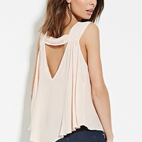 Contemporary V-Back Chiffon Top