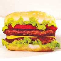 Cool Food Shaped Pillows!  Great Gift Item.  Hamburgers.