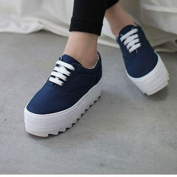 Canvas Trifle Platform Casual Sneakers Student Sneakers