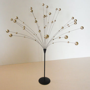 TREASURY ITEM-Laurids Lonborg Silver & Black Atomic Kinetic Ball Spray Sculpture